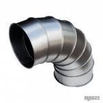Coude en acier galvanisé